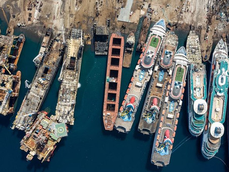 Covid-19: Watch drone video of Turkish ship graveyard as cruise market collapses during pandemic