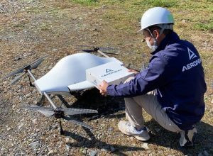 New drone delivery route demonstrates stable cargo delivery technology in Japan