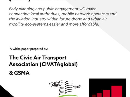 CIVATAglobal & GSMA whitepaper calls for early collaboration to facilitate urban air mobility