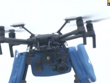 Watch Video: Drones drop off face masks at Mexico hospitals as Covid-19 cases surge