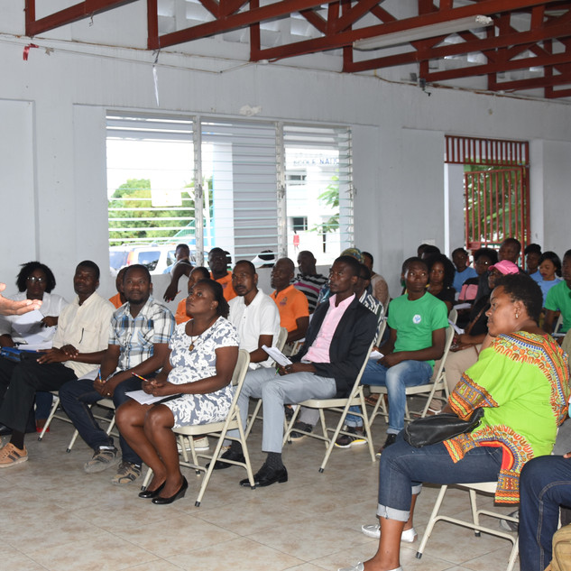 training session with community leaders