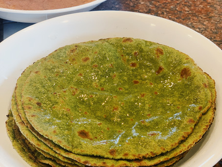 GF Beet and Spinach Roti