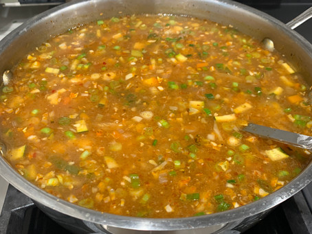 Hot n Sour Soup: Vegetarian, Gluten free and Vegan