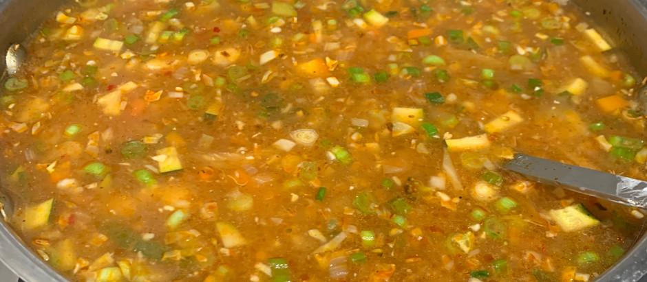 Hot n Sour Soup: Vegetarian, Gluten free and Vegan