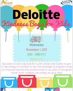 Join us TODAY for our annual Kindness Bags for Kids charity event with Deloitte at 2_30 pm! Use this