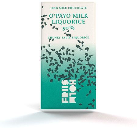 O'payo Milk Liquorice 50% 100 g