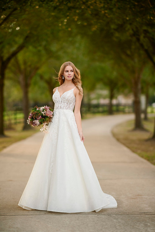 Sparkling Lace Ballgown with Beading from Martina Liana
