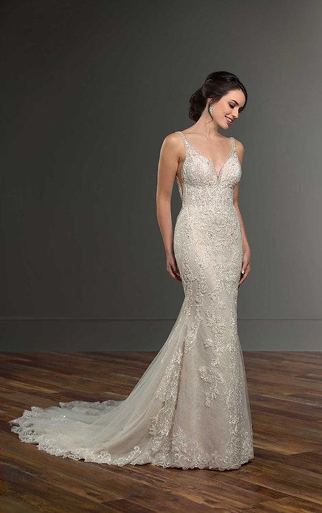 Glamorous Wedding Dress with Beading - Front - Martina Liana