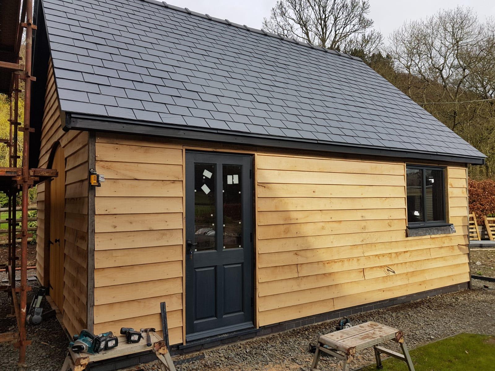 New Build Timber Framed Garage,
