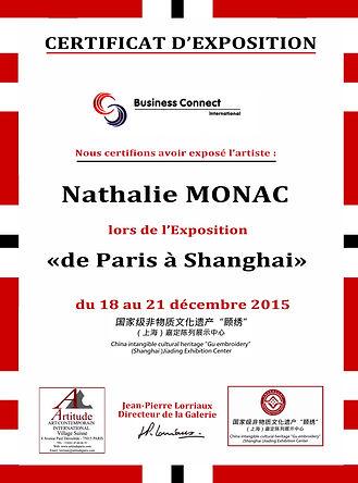 PARIS/SHANGHAI 2015, Nathalie Monac artiste peintre