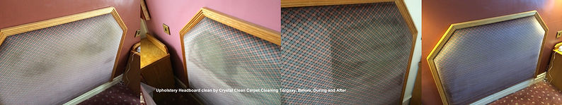 Hotel and B&B headboard and upholstery cleaning by Crystal Clean Carpet Cleaning