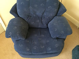 Suite clean completed by Crystal Clean, breathing life back in to your upholstery again.