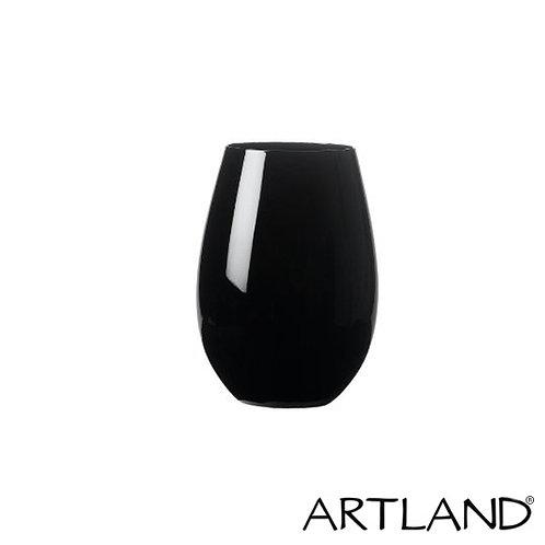 Artland Black Stemless Wine Glass