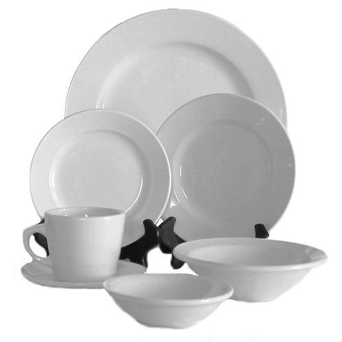 Round White Porcelain China