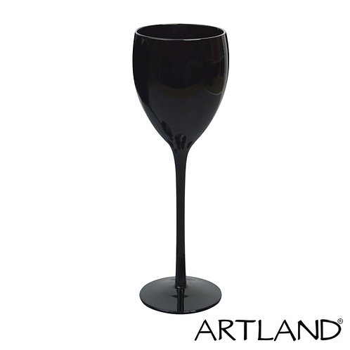 Artland Black Wine Glass