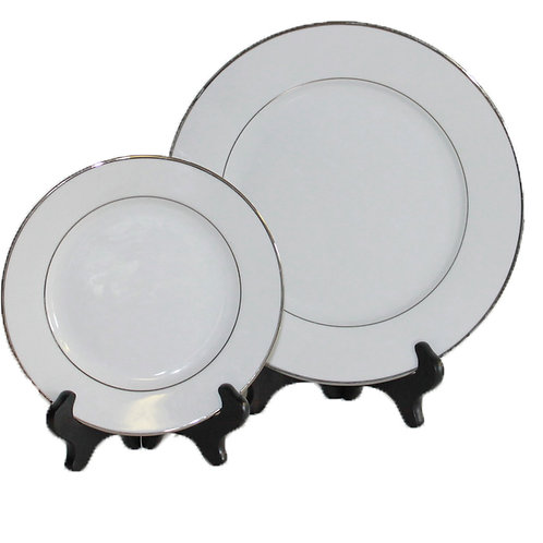 Premium Banded Diner Plates