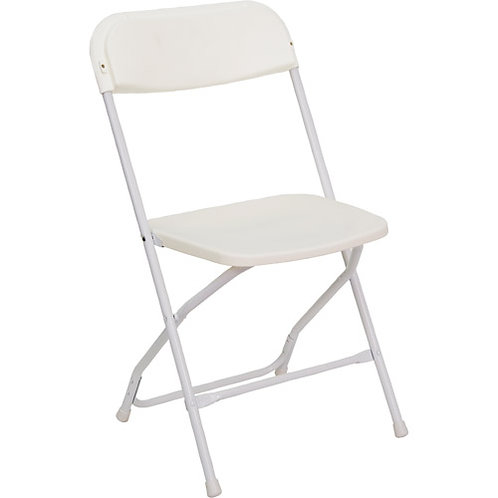 White Platic Folding Chair