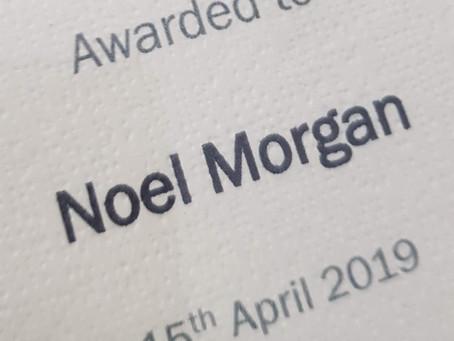 Honorary Life Membership: Noel Morgan