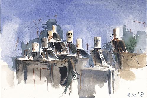 ציור על הגג - Rooftop Plein air