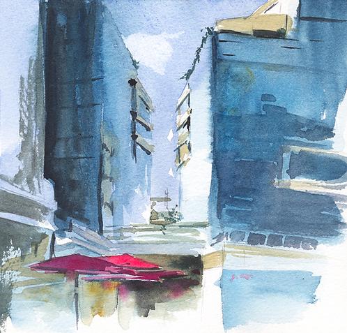 Disappearing Buildings - 25X25 cm print
