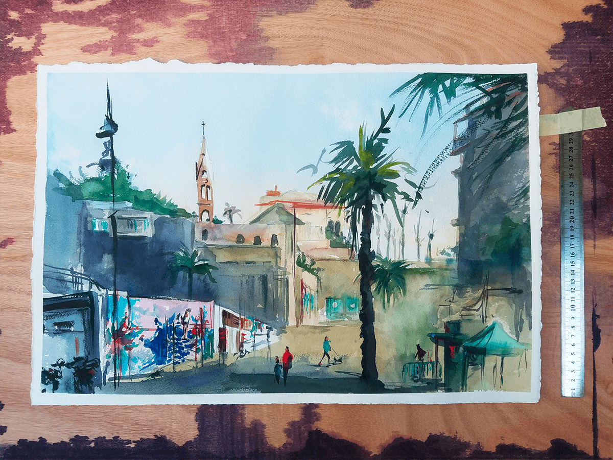 Jaffa Pleinair painting