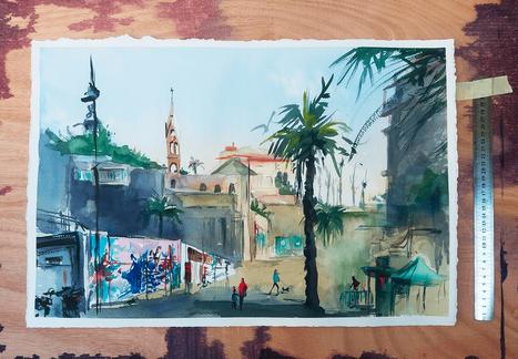 Jaffa Pleinair painting