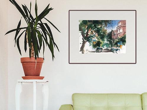 תל אביב מסריק מאנה הדפס גדול Tel Aviv Masarik Mane large print