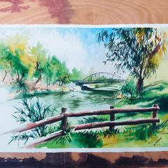 Yarkon Park plein air painting