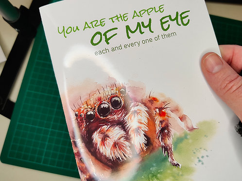 Spider Valentine's day greeting card