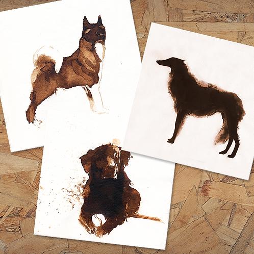Minimalistic Dogs - 13X13 cm prints