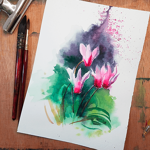 Original Sketch - Cyclamen