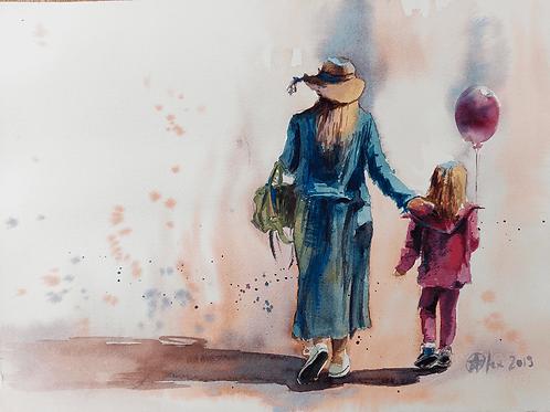 אשה וילדה Woman and daughter