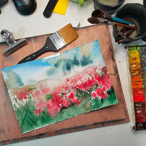 Original Sketch - Anemone Field