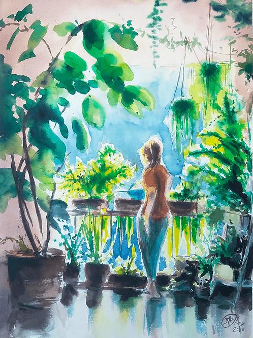 גברת עם צמחים The plant lady