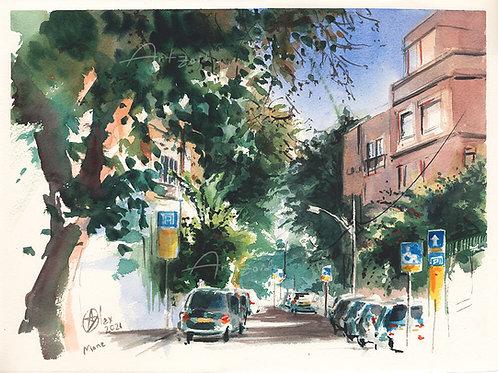כיכר מסריק מבט למאנה Masarik sq. overlooking Mane st.