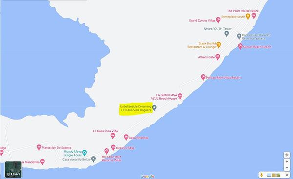 Ambergris Caye - Island map.JPG