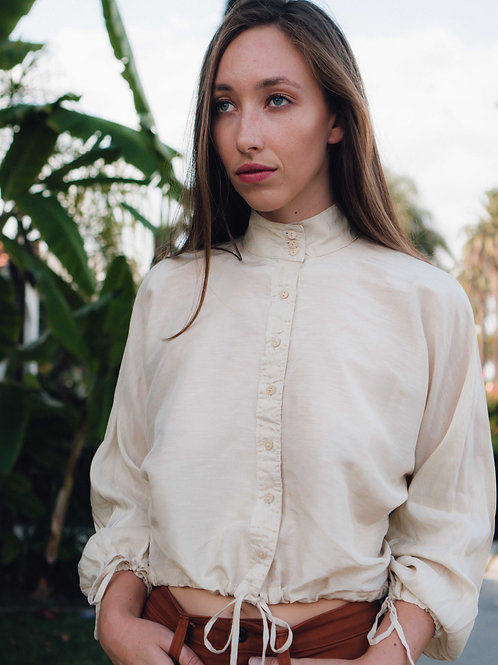 Evangeline Blouse in Cream