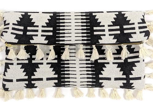 Aztec Tassel Clutch