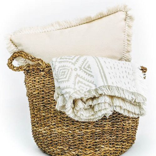 Natural Tassel Cushion