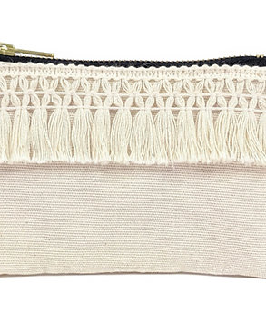 Small Natural Tassel Purse