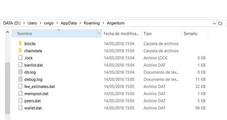 wallet.dat file in ARG folder