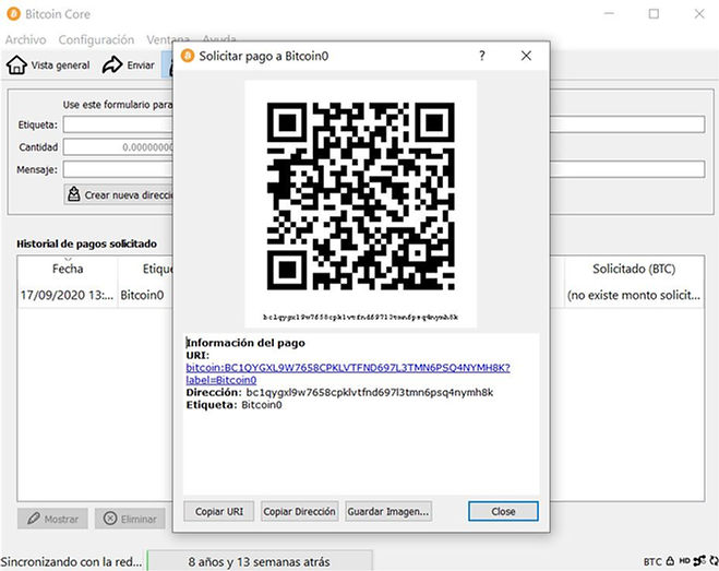 address creada como Bitcoin0.JPG
