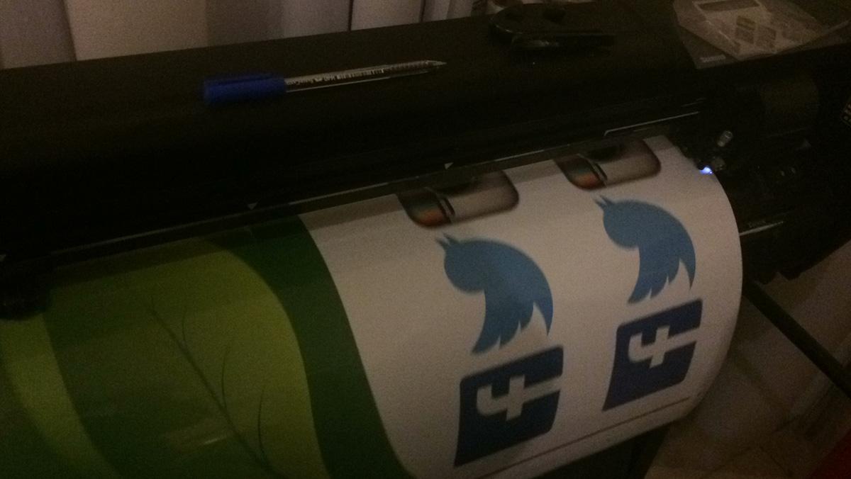 Facebook Twitter Instagram Sticker