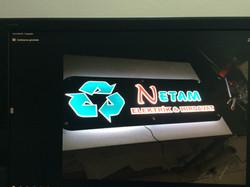 Netam Işıklı Tabela Uygulama