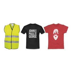 Tshirt ve İş Güvenliği Yelek Baskı