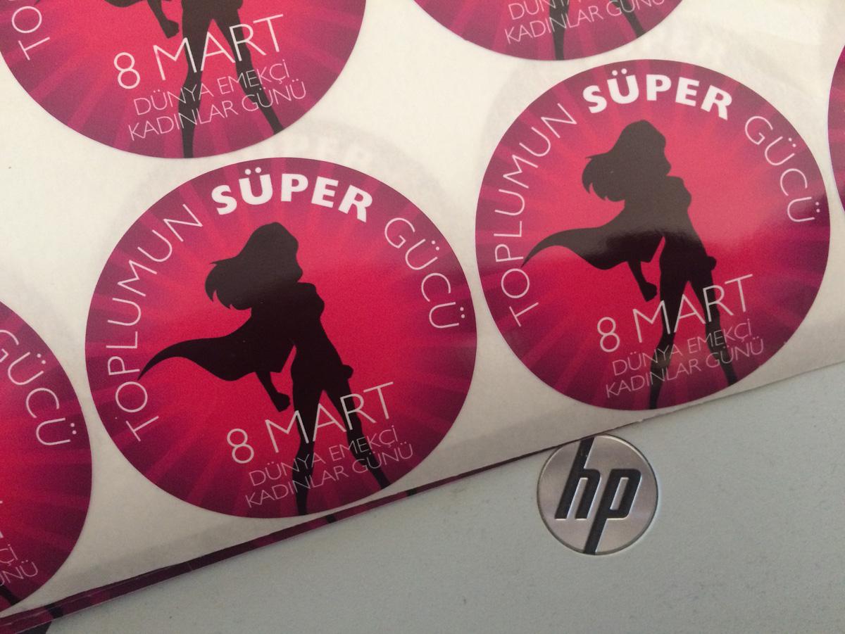 Kadınlar Günü Sticker