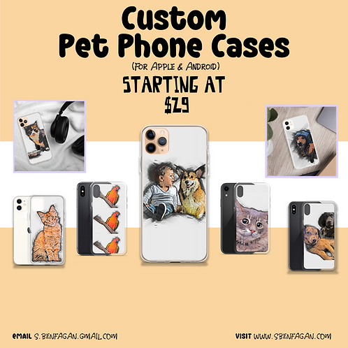 Custom Pet Phone Cases (iPhone and Android)