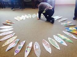 4. Petal making at Creative Paths retreat