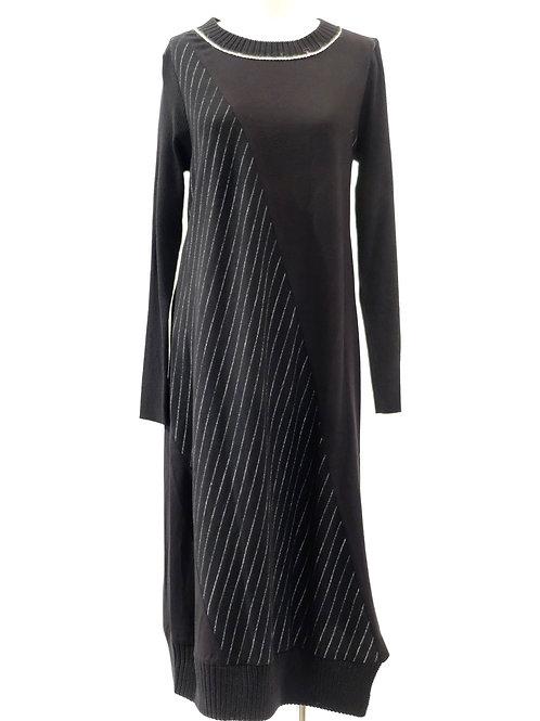 Crea black bias cut dress.