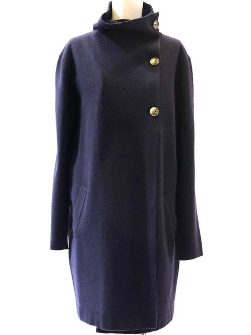 Pol navy blue boiled wool coat.